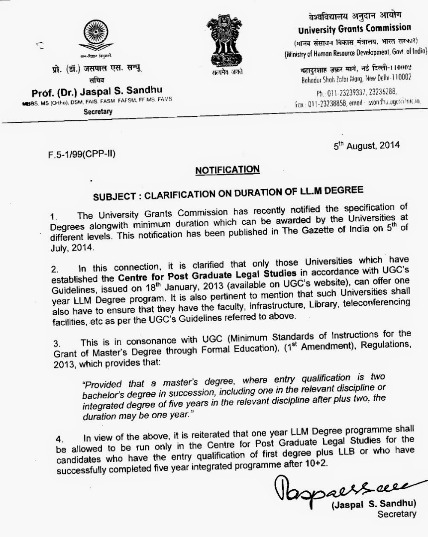 UGC-Clarification-on-Duration-of-LLM-degree