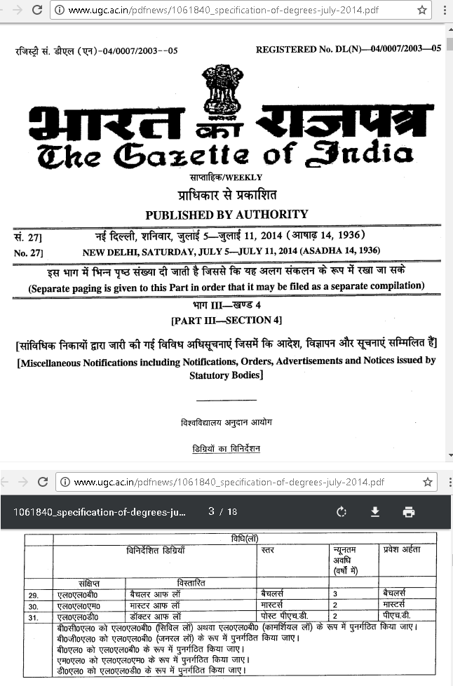 The-Gazatte-Of-India-on-UGC-Degrees-Duration