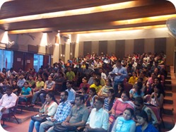 Students at IGNOU Chandigarh Regional Center in a course induction meeting